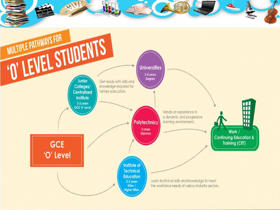 4 MAIN TYPES OF OPTIONS Junior Colleges (JCs) or Millennia Institute