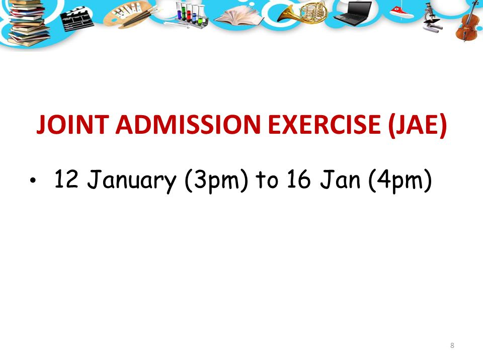 JOINT ADMISSION EXERCISE (JAE)