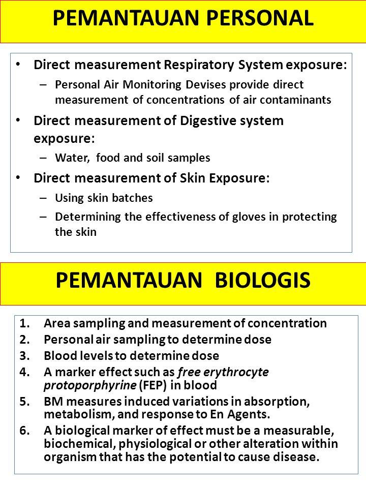 PEMANTAUAN PERSONAL PEMANTAUAN BIOLOGIS
