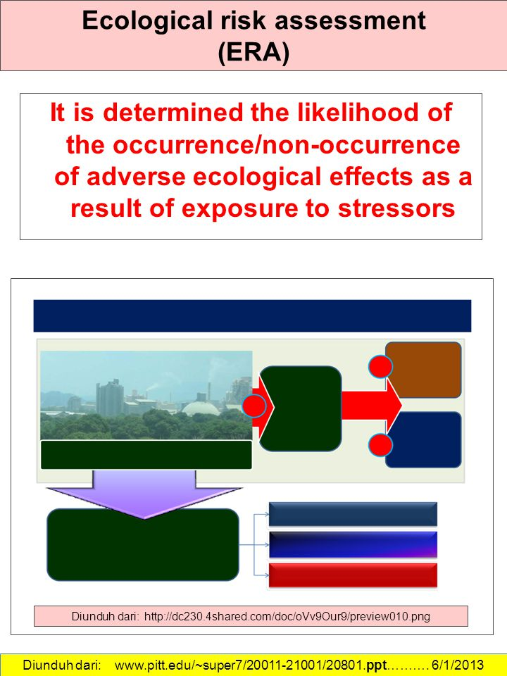 Ecological risk assessment (ERA)