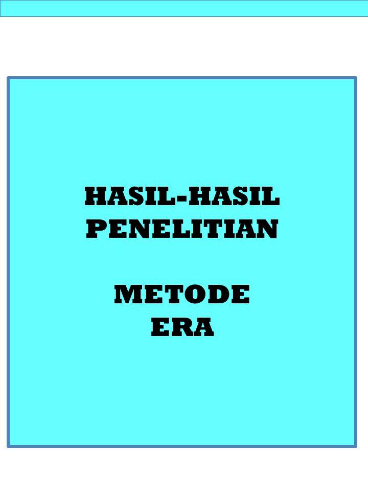 HASIL-HASIL PENELITIAN METODE ERA Outline