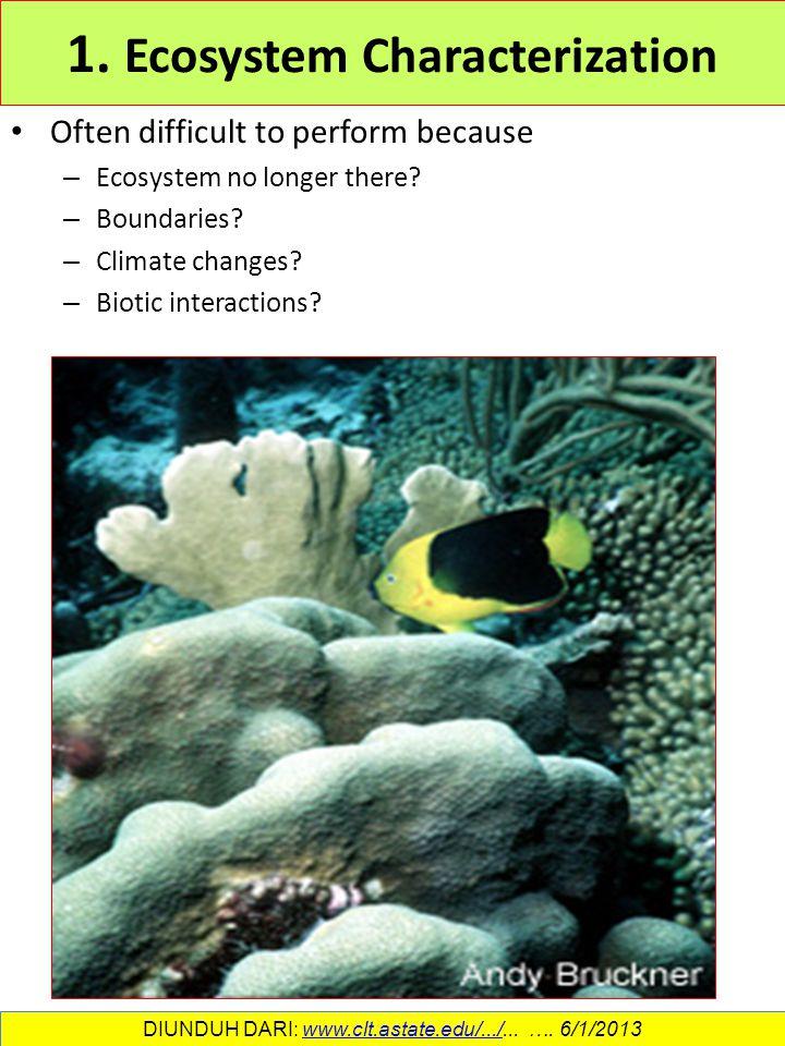 1. Ecosystem Characterization