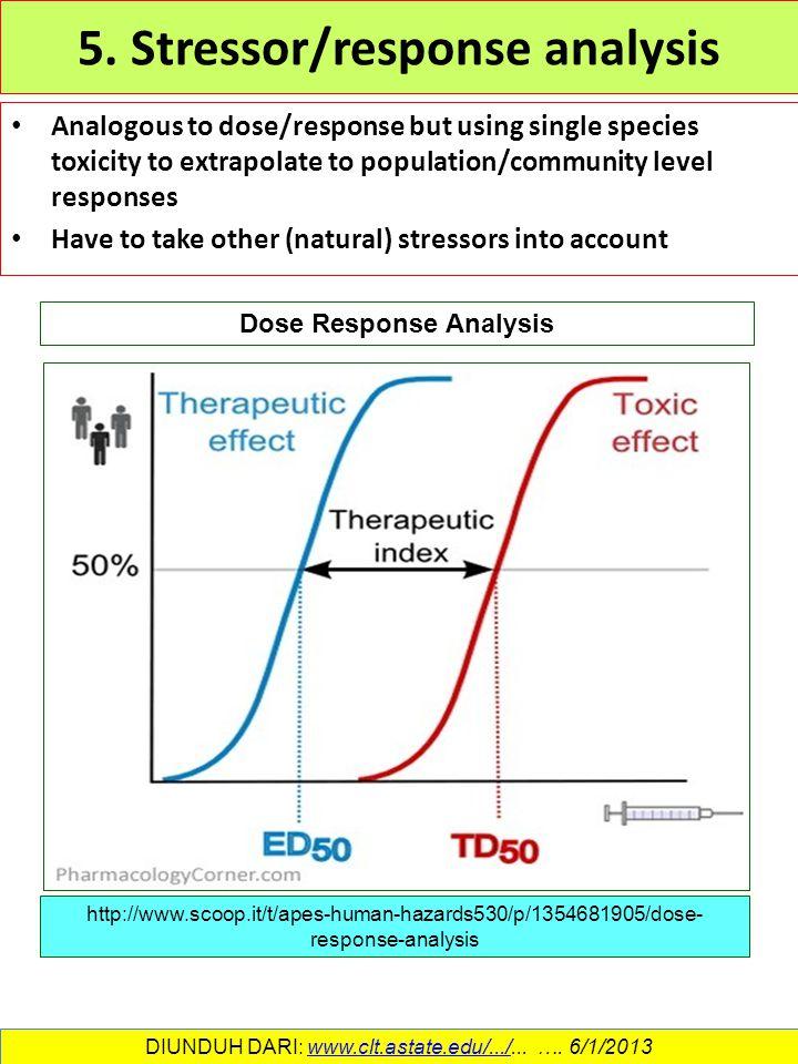 5. Stressor/response analysis