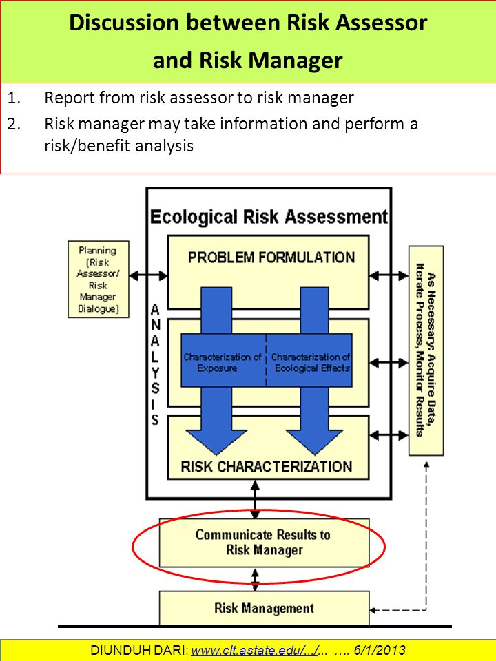 Discussion between Risk Assessor and Risk Manager