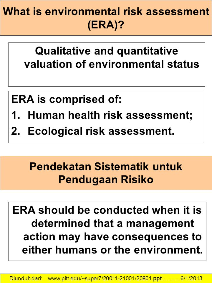 What is environmental risk assessment (ERA)