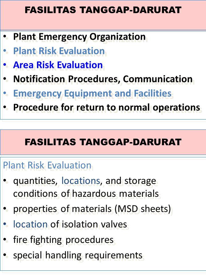 FASILITAS TANGGAP-DARURAT
