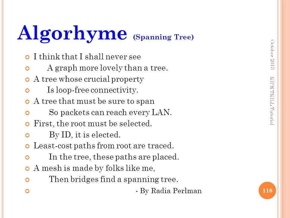 Algorhyme (Spanning Tree)