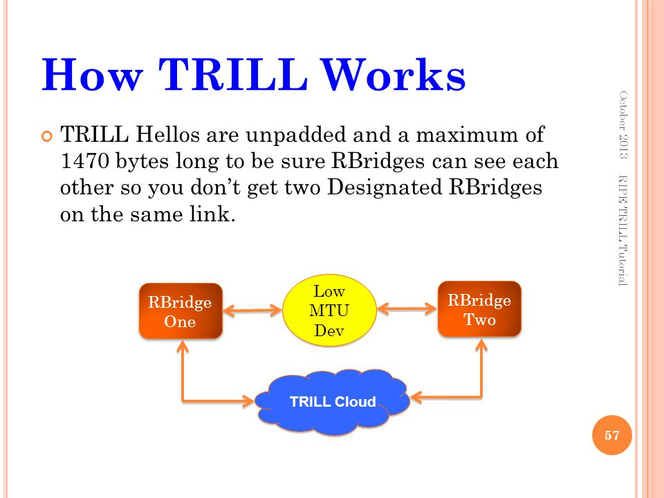 How TRILL Works October 2013.