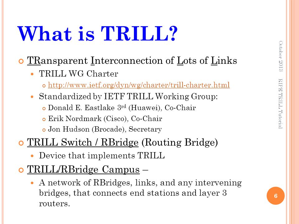 What is TRILL TRansparent Interconnection of Lots of Links