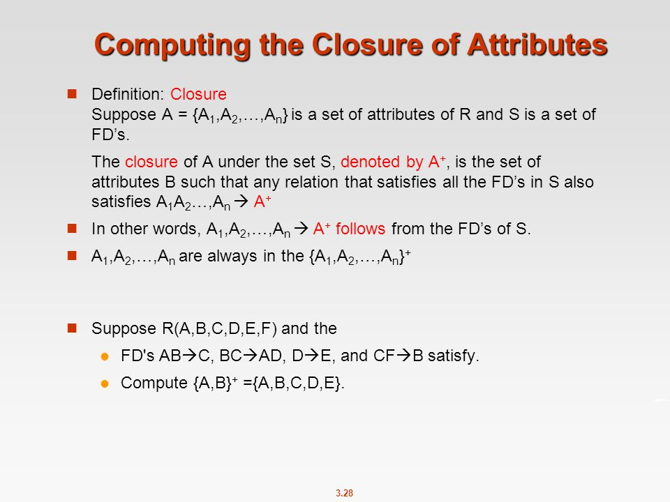 Computing the Closure of Attributes