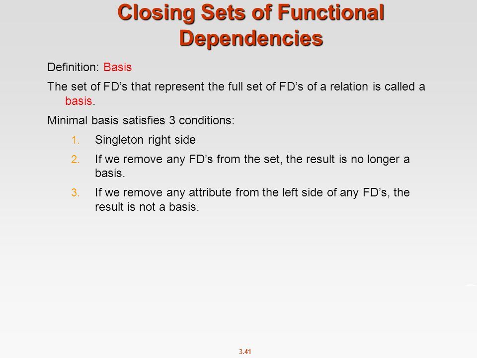 Closing Sets of Functional Dependencies