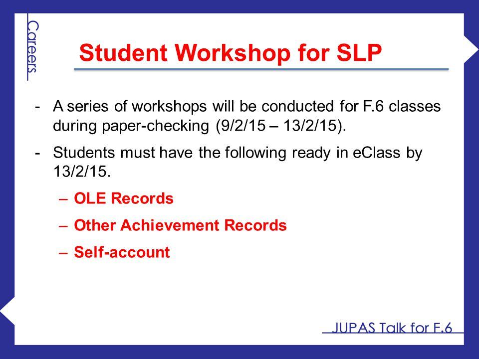 Student Workshop for SLP