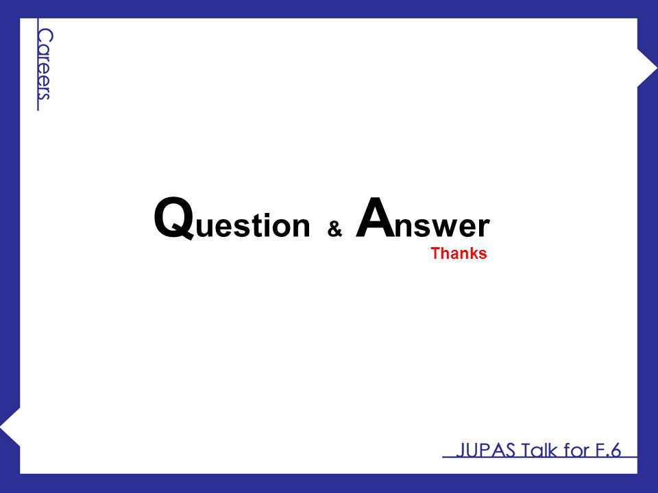 Question & Answer Thanks