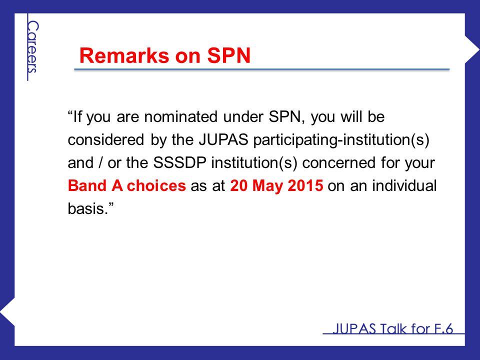 Remarks on SPN