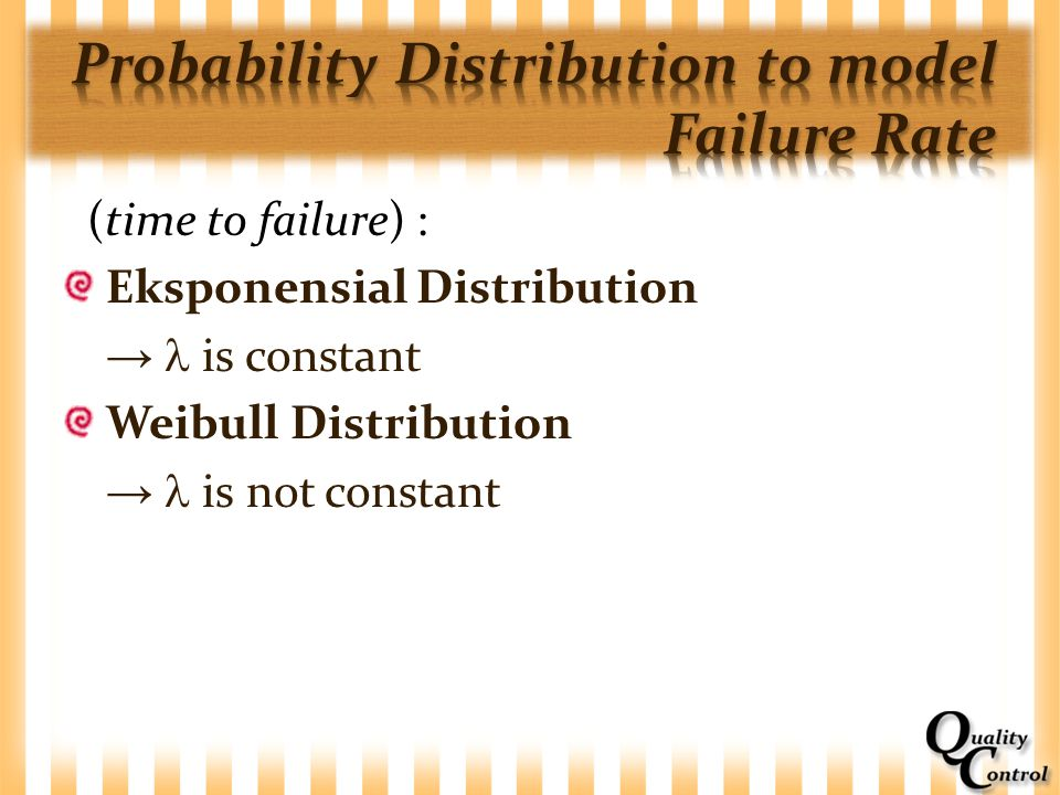 Probability Distribution to model Failure Rate