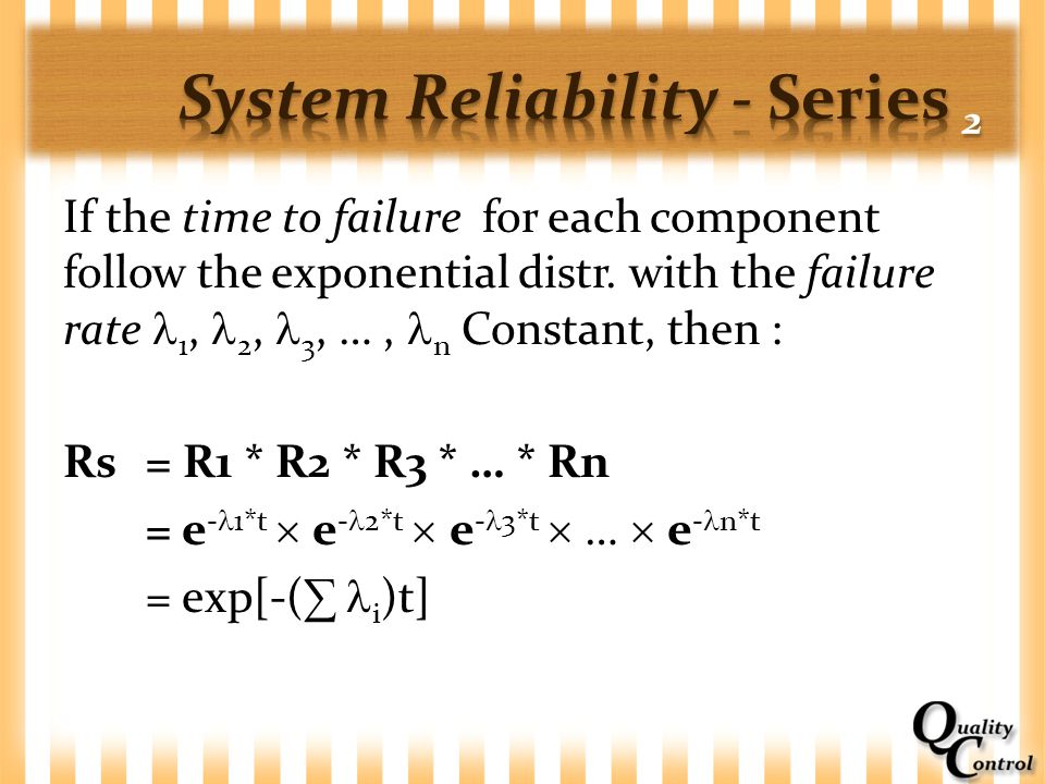 System Reliability - Series 2