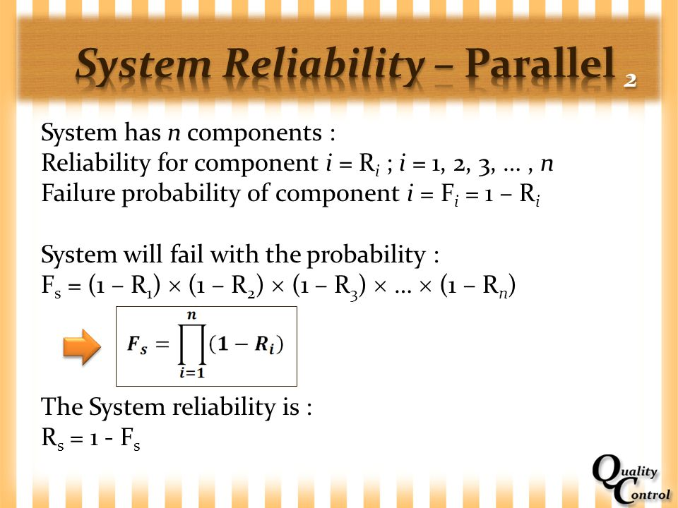System Reliability – Parallel 2