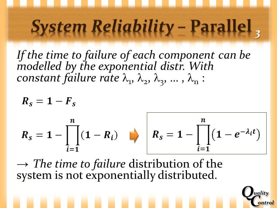 System Reliability – Parallel 3