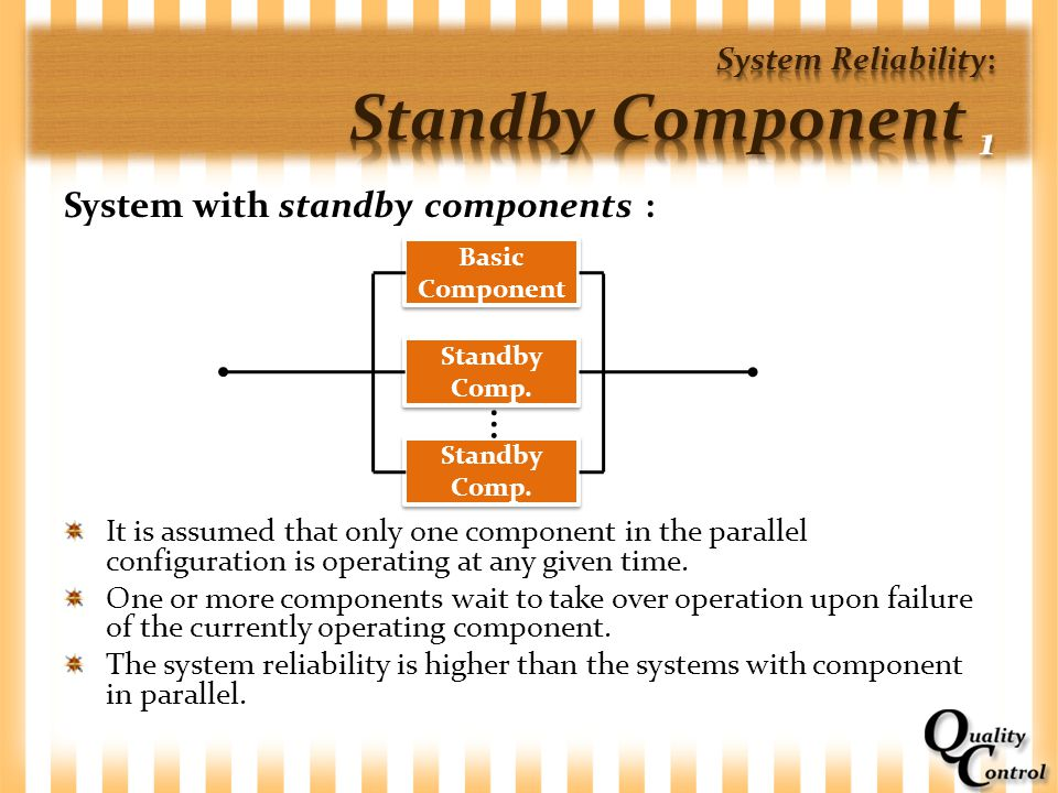 System Reliability: Standby Component 1