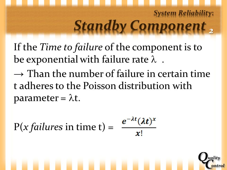 System Reliability: Standby Component 2