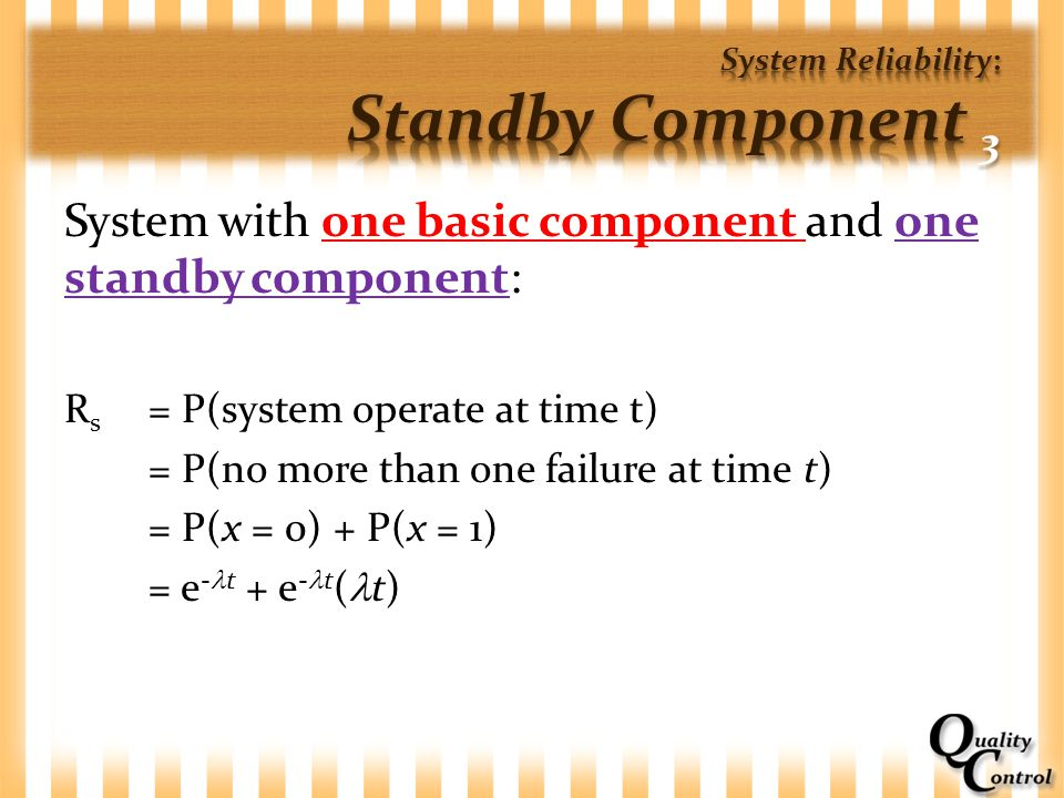 System Reliability: Standby Component 3