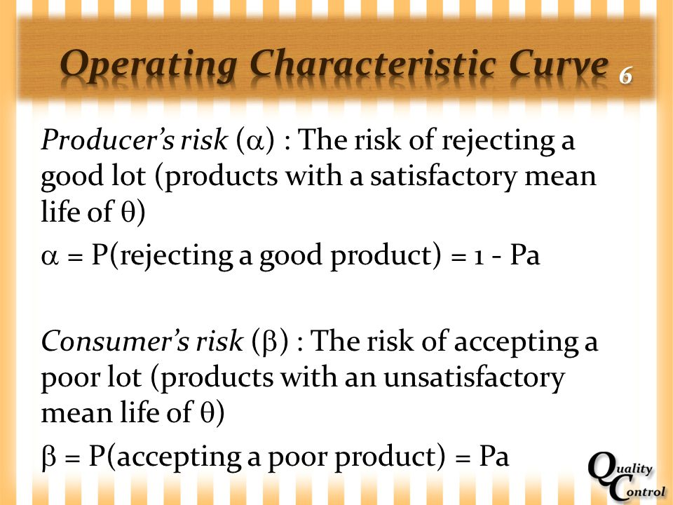 Operating Characteristic Curve 6