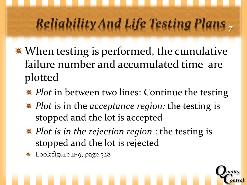 Reliability And Life Testing Plans 7