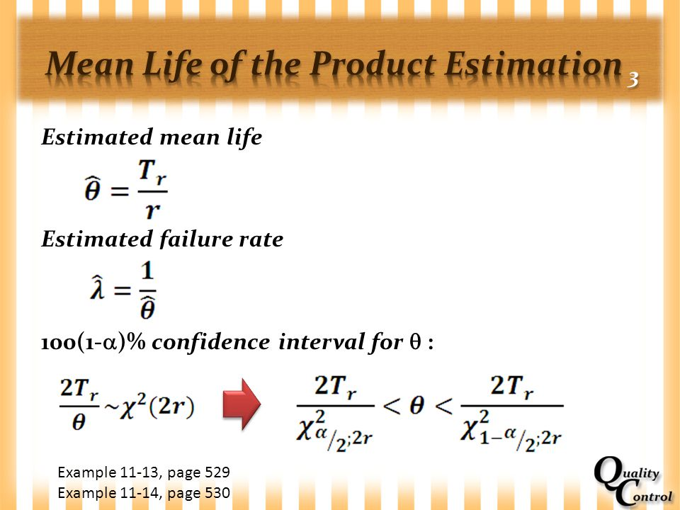 Mean Life of the Product Estimation 3