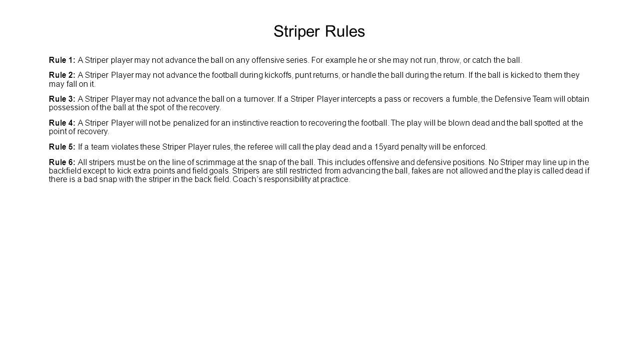 Striper Rules