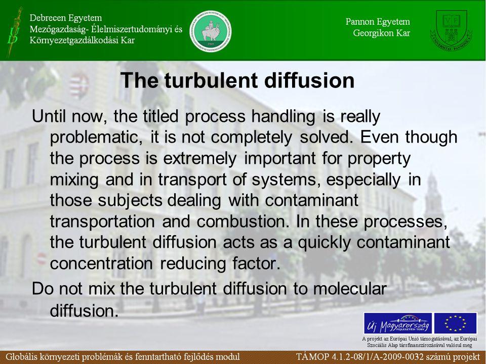 The turbulent diffusion
