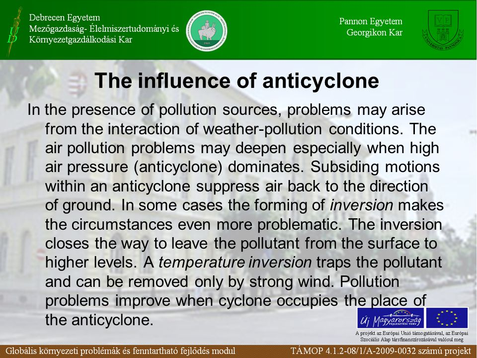 The influence of anticyclone