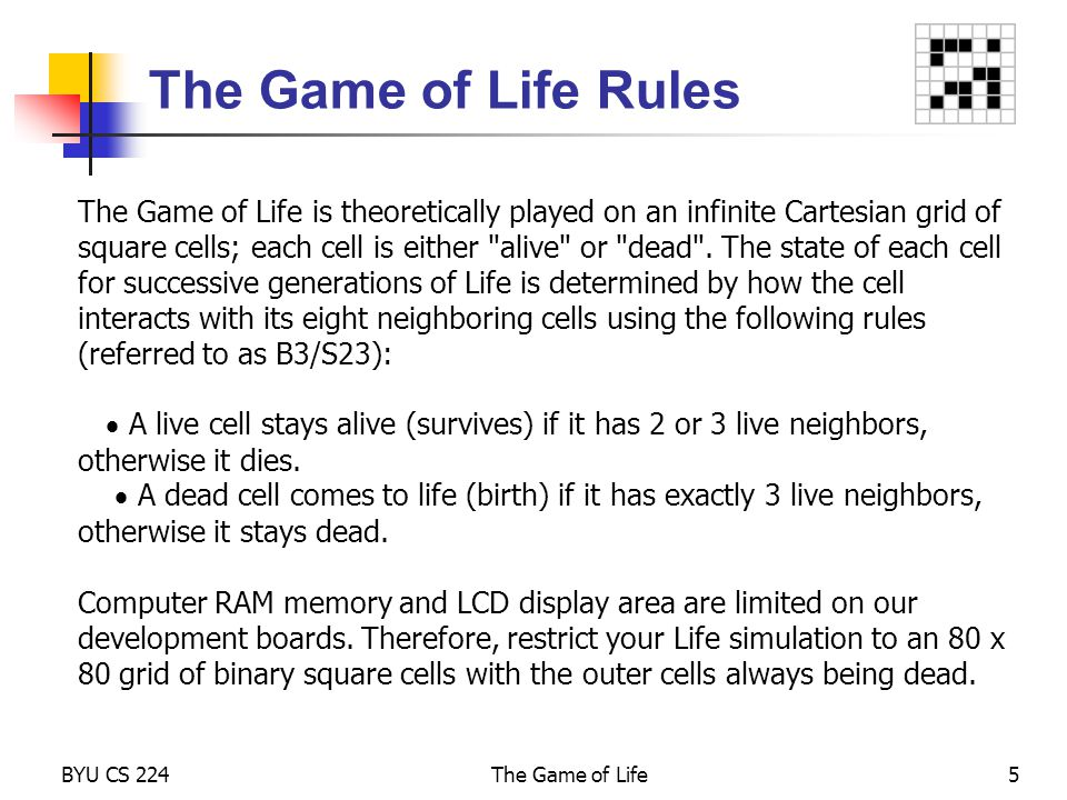 The Game of Life Rules