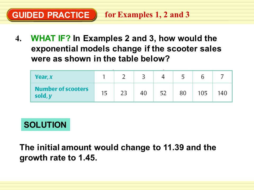 GUIDED PRACTICE for Examples 1, 2 and 3.