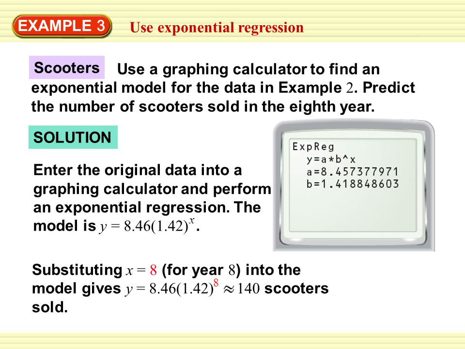 Use exponential regression