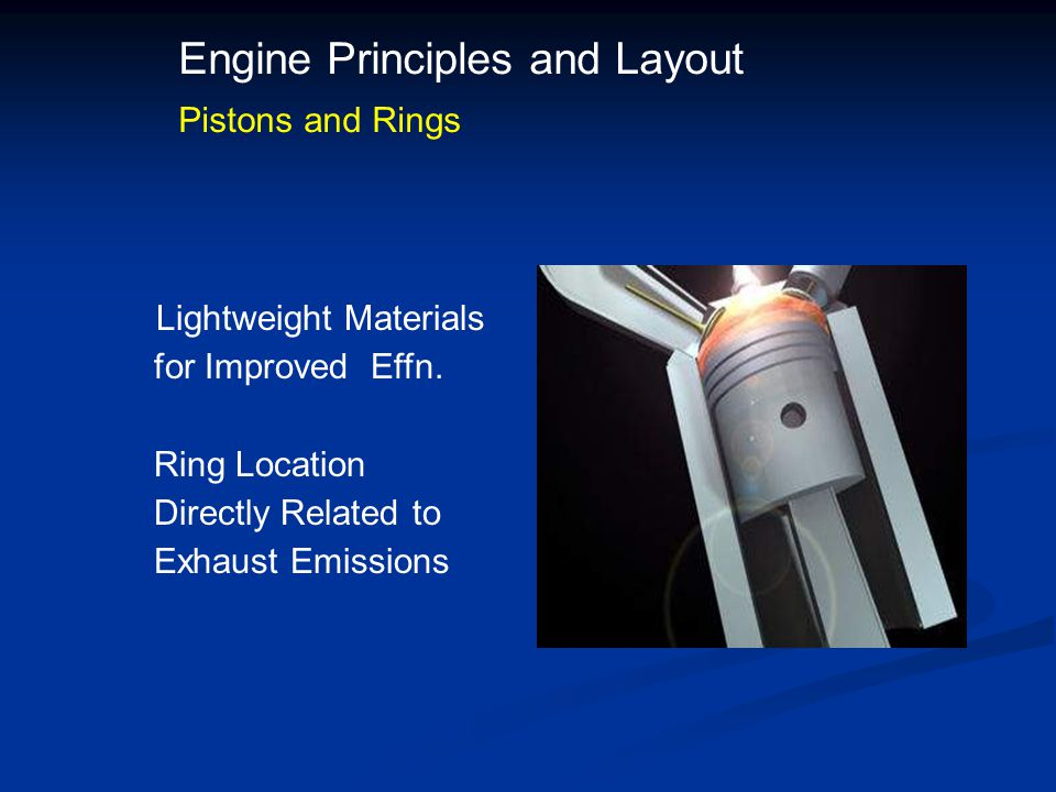 Engine Principles and Layout