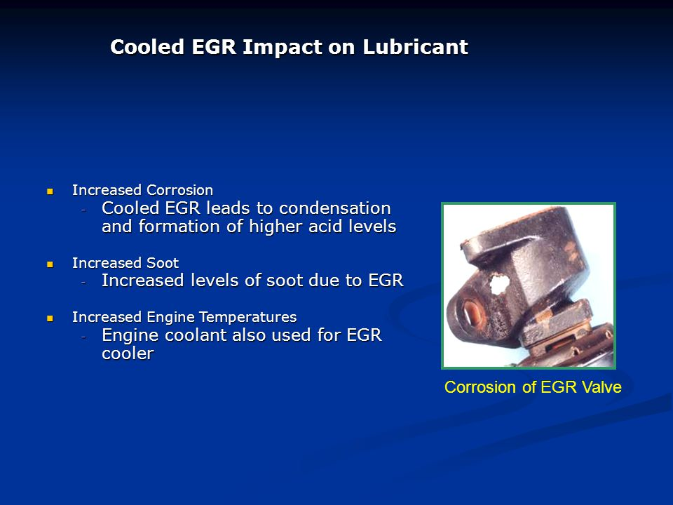 Cooled EGR Impact on Lubricant