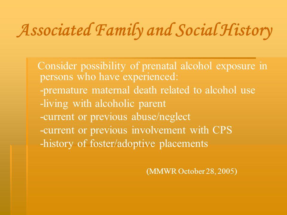 Associated Family and Social History