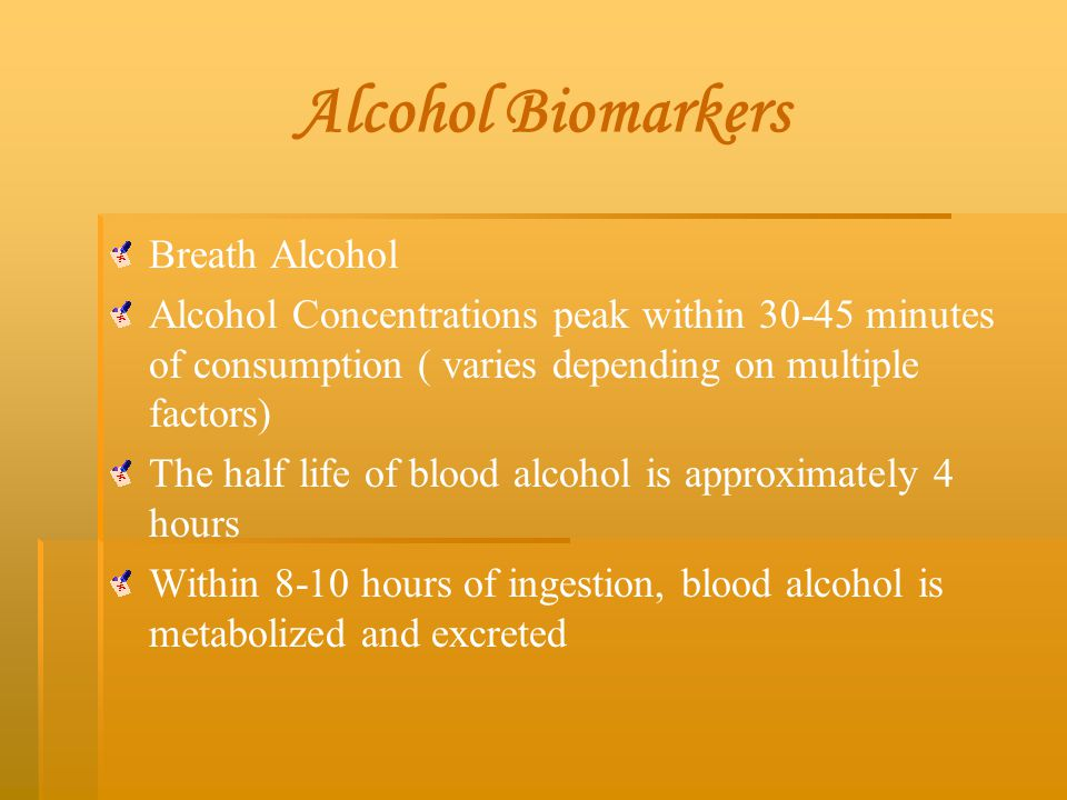 Alcohol Biomarkers Breath Alcohol