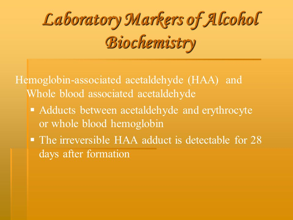 Laboratory Markers of Alcohol Biochemistry