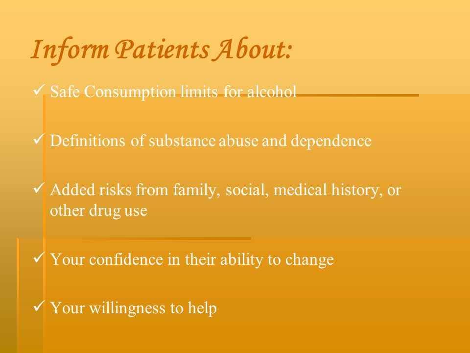 Inform Patients About: