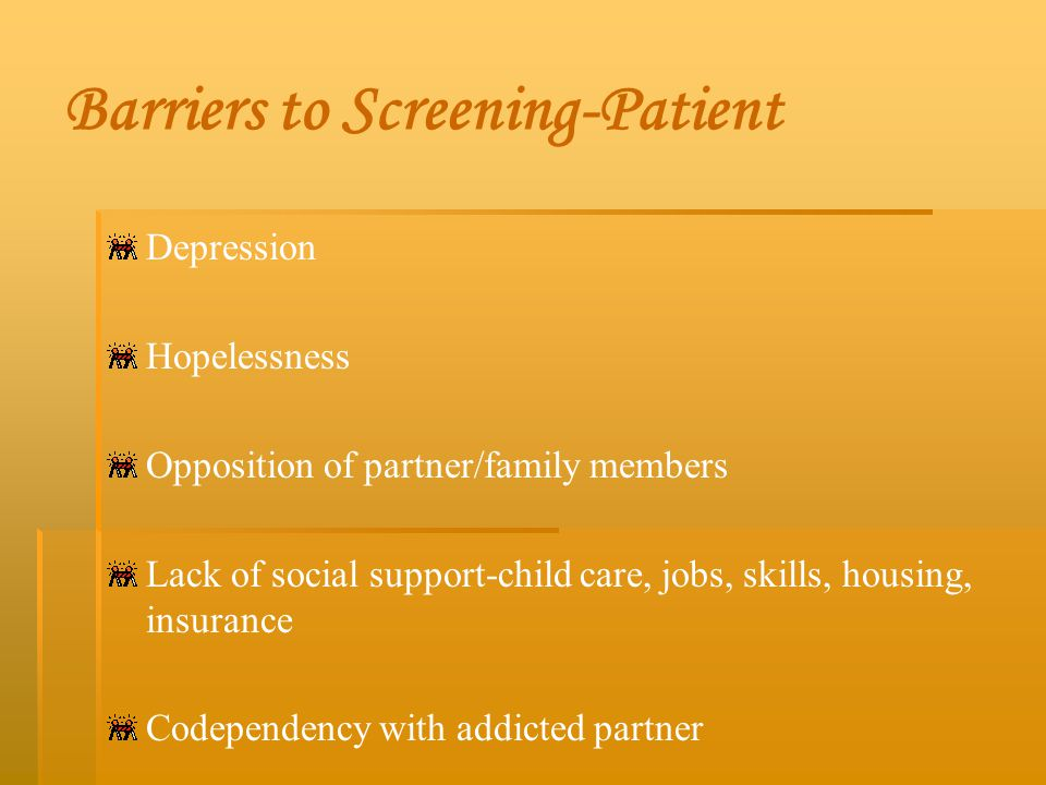 Barriers to Screening-Patient