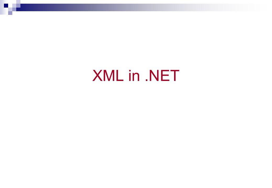 XML in .NET