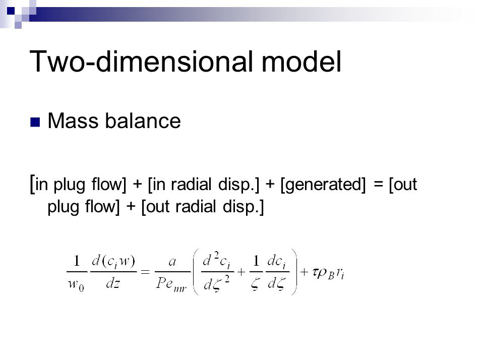 Two-dimensional model