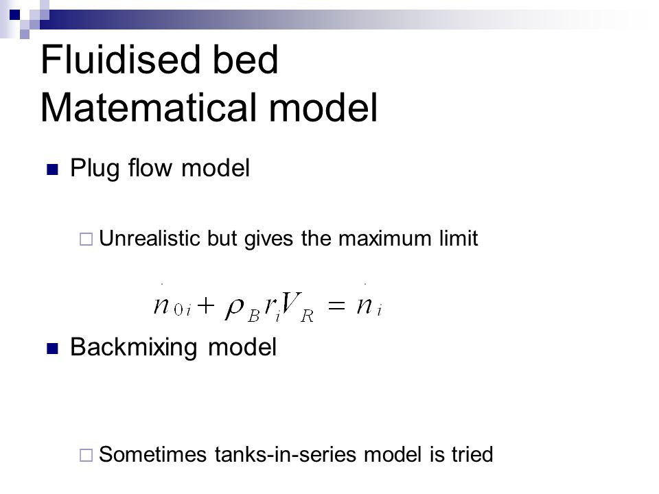 Fluidised bed Matematical model