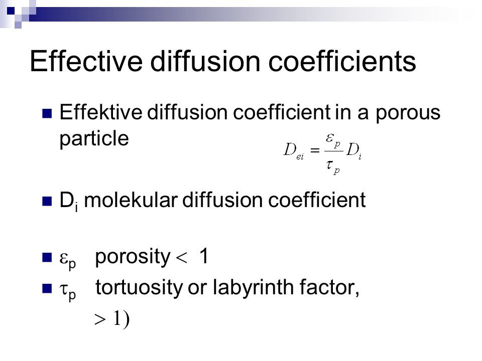 Effective diffusion coefficients