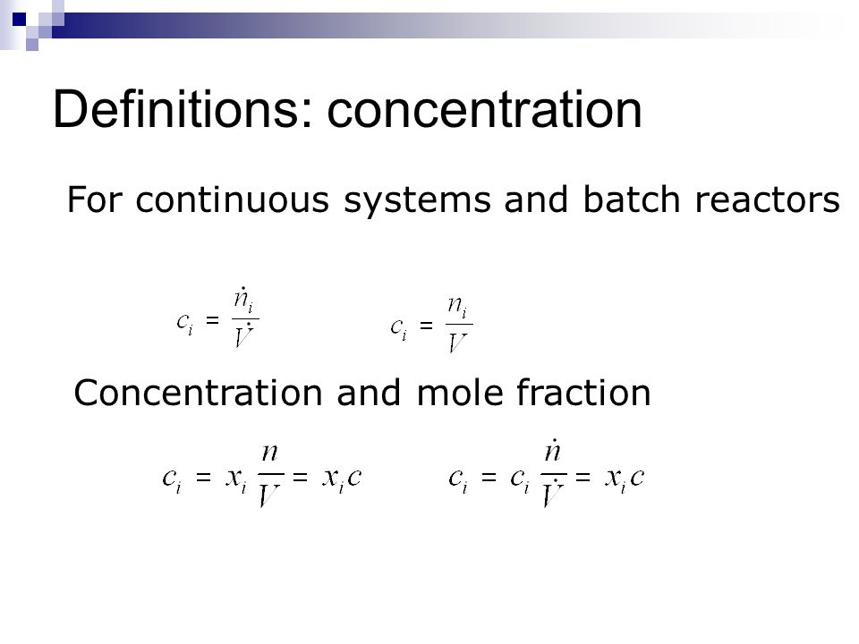 Definitions: concentration