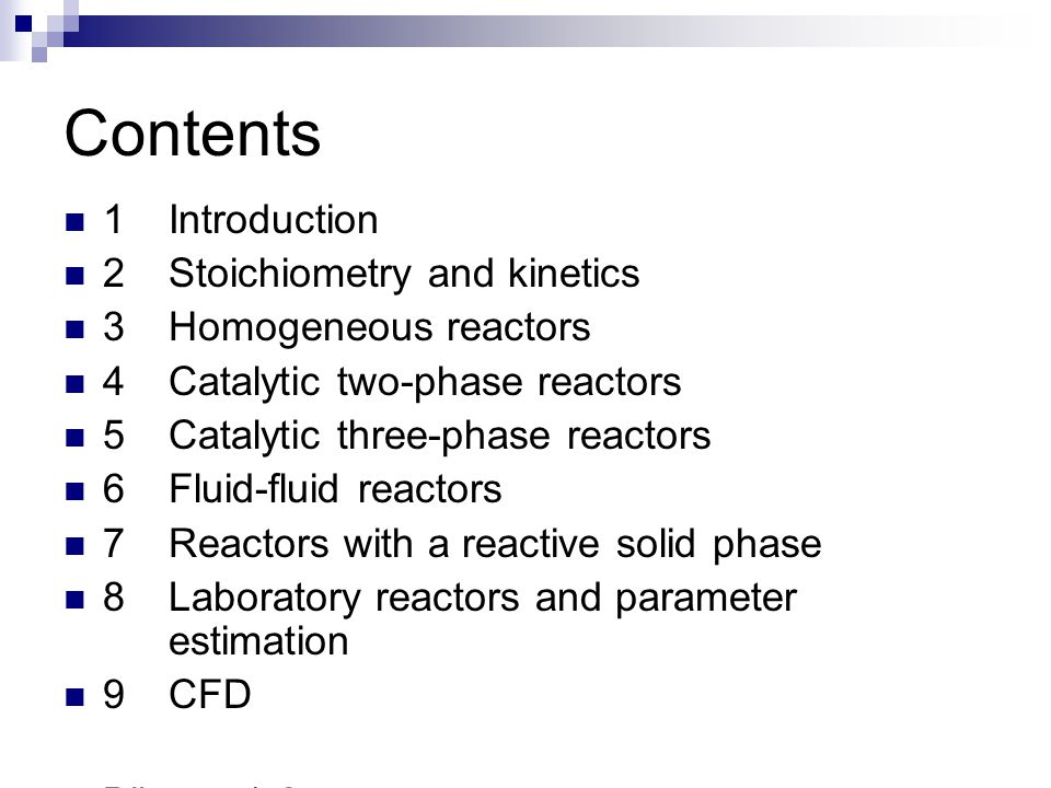 Contents 1 Introduction 2 Stoichiometry and kinetics