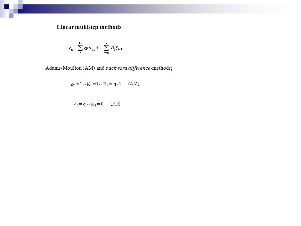 Linear multistep methods