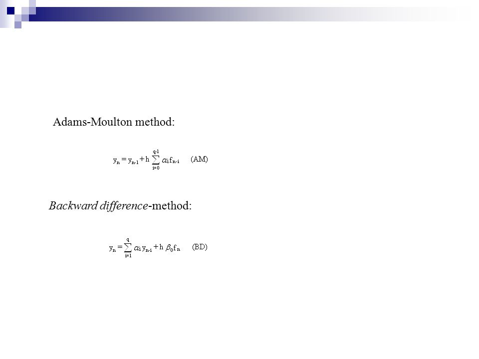 Adams-Moulton method:
