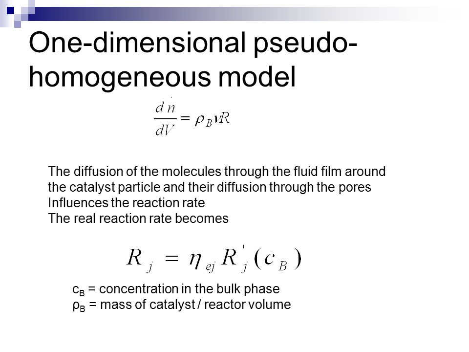 One-dimensional pseudo-homogeneous model